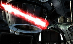Uncompressed Red Lightsaber Starkiller Ultra-Cybog