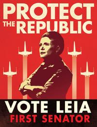 First Senator Leia poster