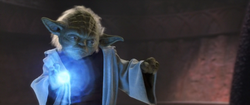 Yoda absorbeert bliksem