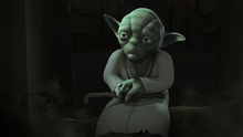 Yoda in the Lothal Jedi Temple