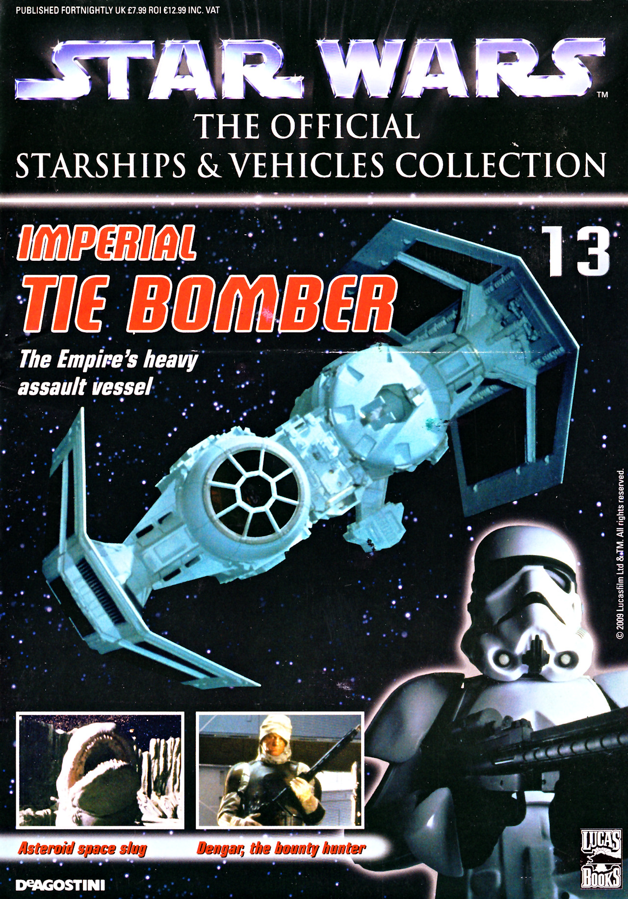 STAR WARS DEAGOSTINI STARSHIPS VEHICLES COLLECTION ISSUE 13 IMPERIAL TIE BOMBER