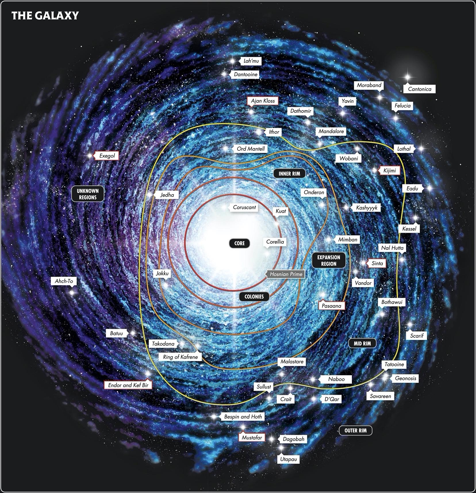 Star Wars Star Map The galaxy | Wookieepedia | Fandom