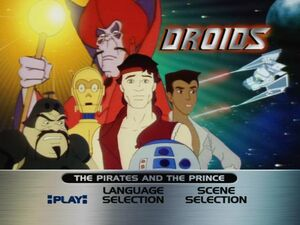 The Pirates and the Prince DVD menu