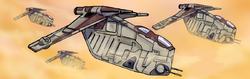 Gunships converge