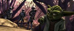 Yoda begint zijn reis