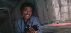 Lando covering fire