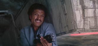 Lando covering fire