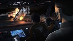 Imperial cruiser crashes into the Interdictor