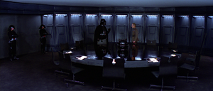 Vader and Tarkin in the conference room