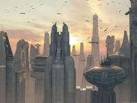 Coruscant view EII 1