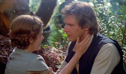 Han and Leia on Endor