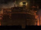 兵器倉庫の廃ビル