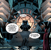 Vader before the throne