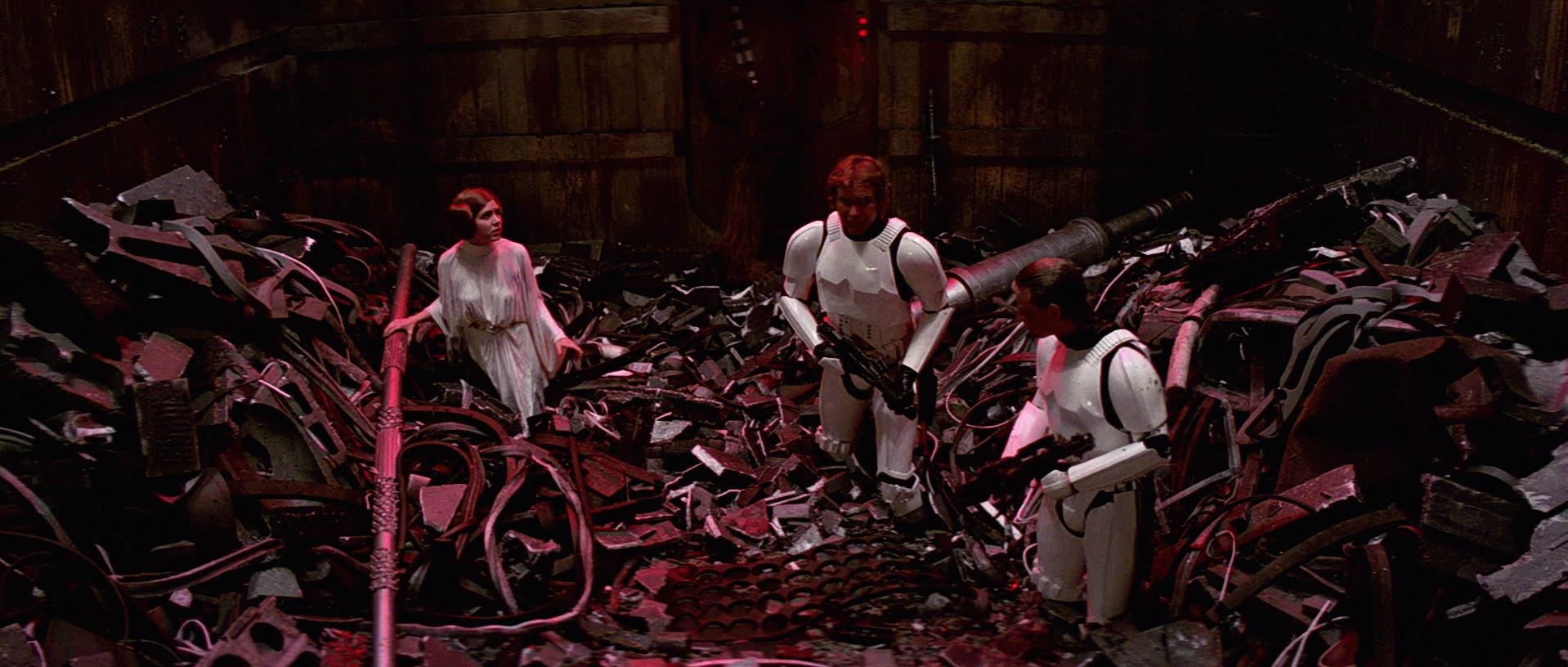 Image result for trash compactor star wars