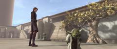 Yoda Anakin courtyard