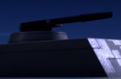 KX4 dorsal laser turret