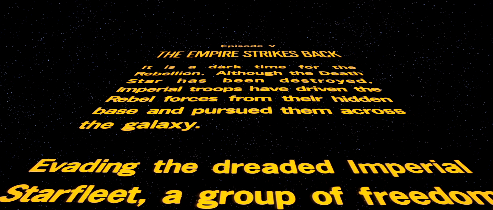Opening crawl | Wookieepedia | FANDOM powered by Wikia