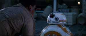 Finn Asks BB8 for the Resistance Base Location