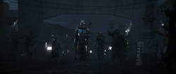 Bounty Hunters Surround The Mandalorian