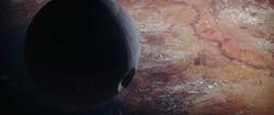 Death Star orbitting Jedha