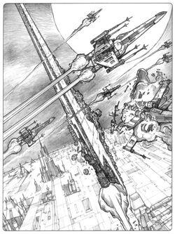 Lusankya escaping Coruscant