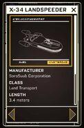 X-34 Landspeeder - Datapad