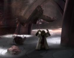 Yoda tilt brokken op met de Force