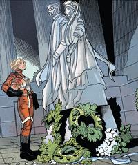 Breha and Bail statues