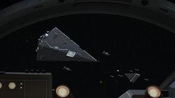Attack on the rebel fleet