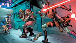 Ventress saves Zygerian Sisters