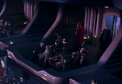 Palpatines private viewing box
