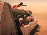 帝国軍兵員輸送機への攻撃
