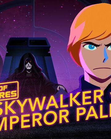 Luke Vs Emperor Palpatine Rise To Evil Wookieepedia Fandom