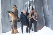 Chewbacca Han Finn at Starkiller