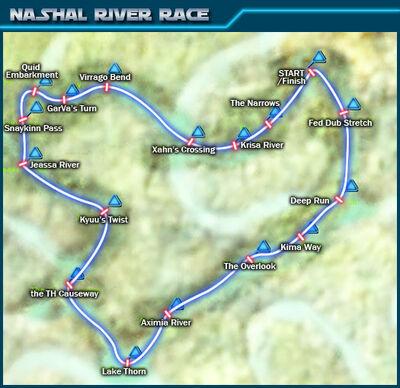 Nashal River Race map