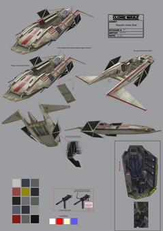 Republic hover boat full concept art