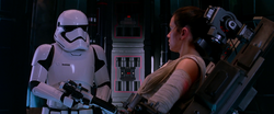 Rey and Stormtrooper