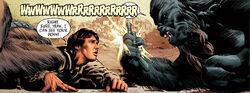 Krrantan takes the blaster of Han