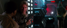 Han Solo and Finn on Starkiller Base