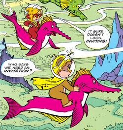 Ewoks underwater
