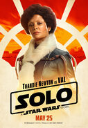 Solo A Star Wars Story Val character poster