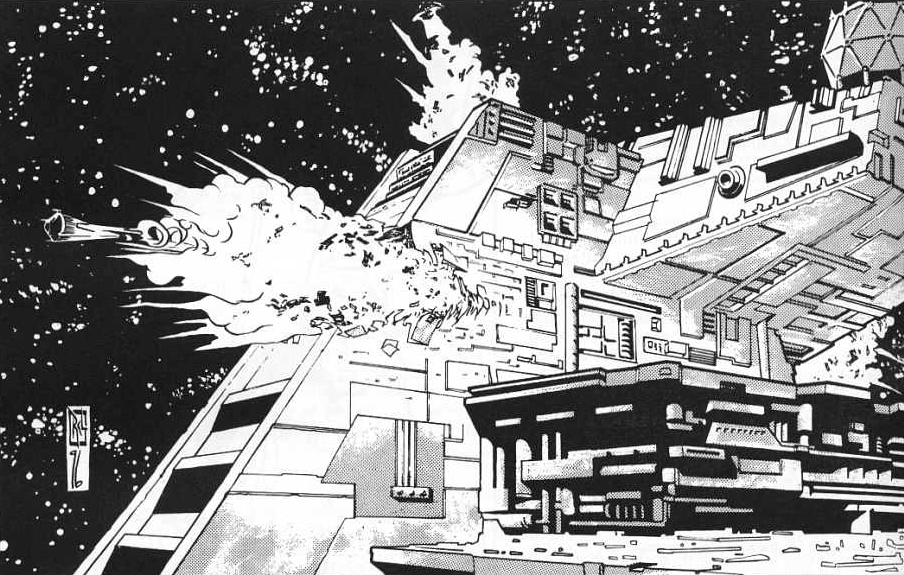 Sun Crusher slices through a Star Destroyer