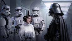 Leia Organa and vader
