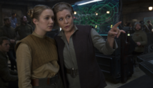 Kaydel Ko Connix and Leia Organa