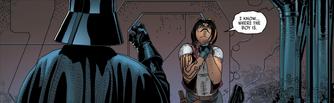 Vader chokes Aphra
