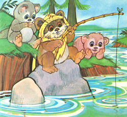 Ewoks fishing