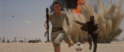 Rey Finn vluchten