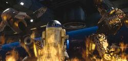 Artoo lights up B2s