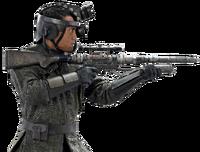 Volzang with rifle