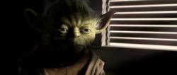 Yoda spreekt met Anakin over zijn visioenen